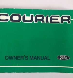 2001 FORD COURIER OWNERS HANDBOOK / USER MANUAL / HAND BOOK