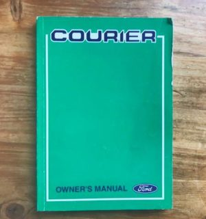 2000 FORD COURIER OWNERS HANDBOOK / USER MANUAL / HAND BOOK