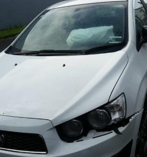2016 HOLDEN BARINA LEFT GUARD LINER