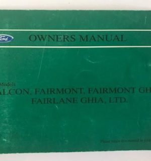 1995 FORD FALCON OWNERS HANDBOOK / USER MANUAL / HAND BOOK