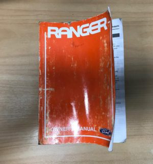 2007 FORD RANGER OWNERS HANDBOOK / USER MANUAL / HAND BOOK