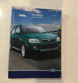 2010 FORD TERRITORY OWNERS HANDBOOK / USER MANUAL / HAND BOOK